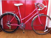 "Ladies roadbike - refurbished 18"" Miss Peugeot - 24"" wheels, 5-speed"