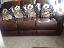 4 large cushions with covers good condition
