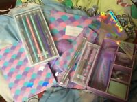 6 piece mermaid stationary set (63 items altogether) ideal for back to school