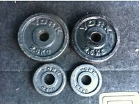 4 x Small York Cast Iron WEIGHT PLATES