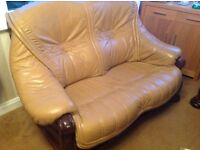 2 Leather Two seater sofas NOW REDUCED