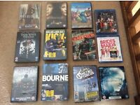 Selection of unopened DVDs and blue rays