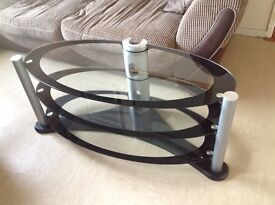 TV Stand 3 Tier Glass