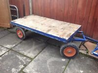 Large hand pull trolley