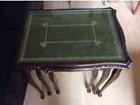 A Mahogany Nest Of Three Tables
