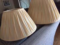 John Lewis silk lamp shades x 2