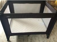 Mamas &Papas Travel cot with mattress and travel bag. Excellent. Condition co