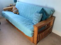 Futon sofa/bed from NEXT, 4 seater sofa, double bed with large storage drawers.