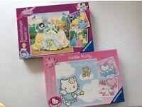 2 x Jigsaws (Disney Princesses & Hello Kitty)