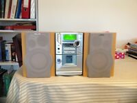 Philips Compact CD/Tape and Stereo player with Speakers