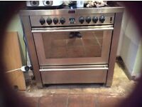 Silver STOVES electric cooker with 5 ring hob