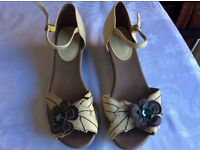 Staccato leather sandles size 6