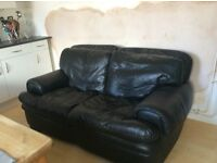 Leather sofa feather very good condition