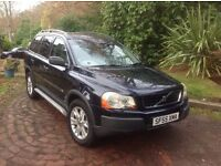 Volvo XC90 d5 awd semi,auto 7/seater diesel 2005/55plate f,s,h drives superb.