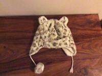 Monsoon girls winter hat fleece lined age 6-13 years