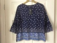 Marks and Spencer New Blue top with tags