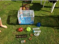 Super deluxe hamster cage with extras