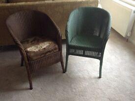 Pair of Loyd Loom chairs