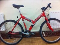 "Unisex Mountainbike - fully refurbished 20"" Ideal Tracer: 26""wheels, 18-speed"