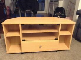 Good condition corner tv stand for sale