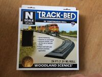 N gauge track bed.24 foot pack.
