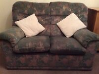 2 Sofas and armchair g plan green
