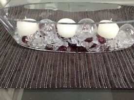 Glass Marks & Spencer Floating Candle Ornament