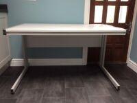 Grey Desk with Grey Metal Frame