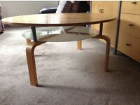 Coffee Table, round with shelf under..beech