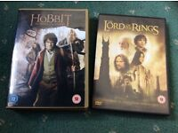 The hobbit and lord of the rings dvds
