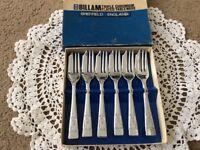 Boxed Set of Cake / Dessert Forks. Triple Chromium plated.