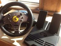 Ferrari steering wheel and pedals