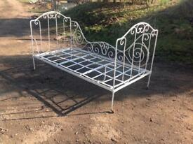 Beautiful French Antique wrought iron folding day bed c.1800