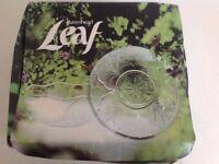 Ravenhead Leaf set of six 12cm glass bowls