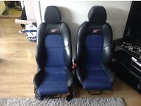Ford Fiesta Blue Edition MK6 ST leather seats