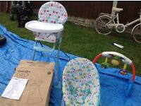 Baby highchair baby chair baby activity centre