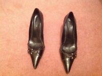 Ladies Next Black high heel stilleto shoes uk size 7