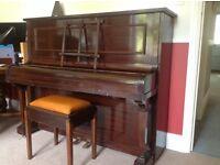 Piano - upright, dark wood, Healy & Co