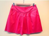 Beautiful Alain Manoukian pink satin full skirt with fitted waist size 12