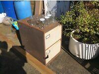 2 drawer metal filing cabinet.. Garage use or renovate
