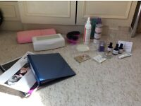 Large amount of nail technician products including nsi