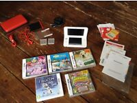 NINTENDO 3ds xl -pre installed Mario cart plus 5 games, charger and case