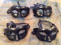 Fancy dress four Eye Mask Black Paper maiche new