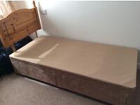 Single Bed Divan Base with Head Board