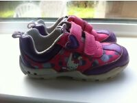 Clarks Light Up toddler girls shoes - bunny and bubbles print - size 5 and a half F . £10