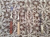 5 Vintage Pickle Forks