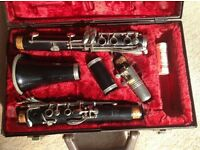 Clarinet - vintage Buffet Crampon Evette wooden plus case and books