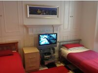 TWIN ROOM available in Central Brighton house. FULLY FURNISHED WITH ALL BILLS INCLUDED.