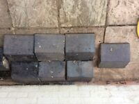 Reclaimed Staffordshire Victorian blue coping stones