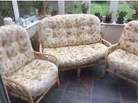 three piece rattan conservatory set